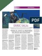 Enric Sala-Para el 2050 la mayoría de peces no existirá