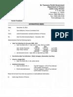 November 2012 Sales Tax Report - St. Tammany Parish