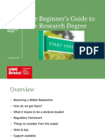 The Beginner's guide to the docotorate