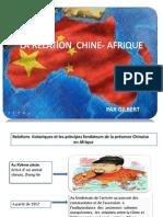 Chine- Afrique+ Grande Puissance Eco+ Conflits Intra+ Relation Usa- Afrique
