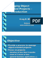 Managing OO Projects
