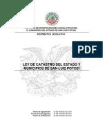 Ley de Catastro Del Estado y Municipios de San Luis Potosi