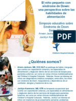 Arwen Jackson and Jacklyn Kammerer - Parent Lecture - The Toddler With Down Syndrome; A Perspective on Feeding - Spanish