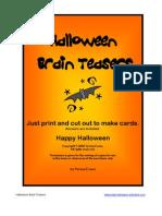 Halloween Brain Teasers