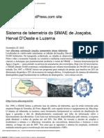 Sistema de telemetria do SIMAE de Joaçaba - SC