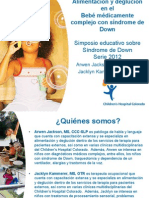 Arwen Jackson and Jacklyn Kammerer - Professional Lecture - Feeding and Swallowing in the Medically Complex Infant With Down Syndrome - Spanish