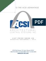 ACSI Price Book September 2012
