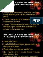 DESAR. FISICO Y COGNOSCITIVO NIÑO 6 A 12