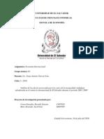 Análisis de los efectos provocados por los costes de la inseguridad ciudadana salvadoreña en el comercio internacional de El Salvador durante el período 2003- 2009