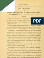 Jourdain, 1878, Muscles de l'Appareil Maxillo- Mandibulaire Poissons Osseux