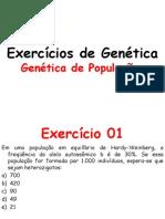 Exercicios de Genetica Genetica de Populacoes