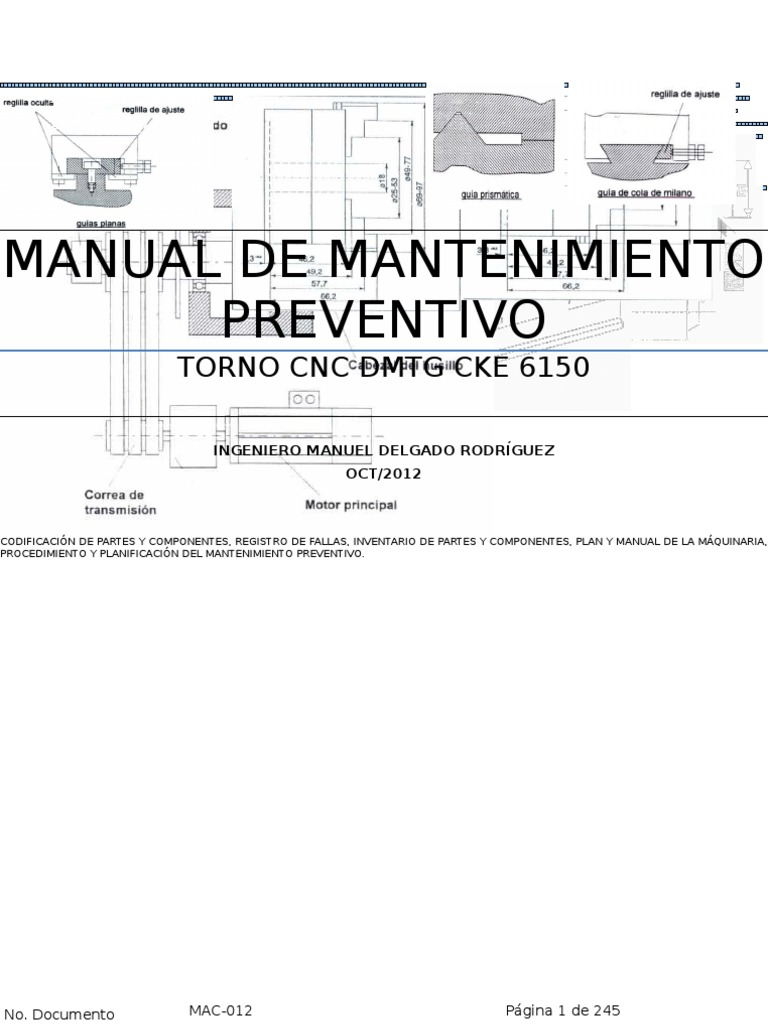 Manual mantenimiento preventivo torno cnc dmtg cke 6150 imp for Manual de acuicultura pdf