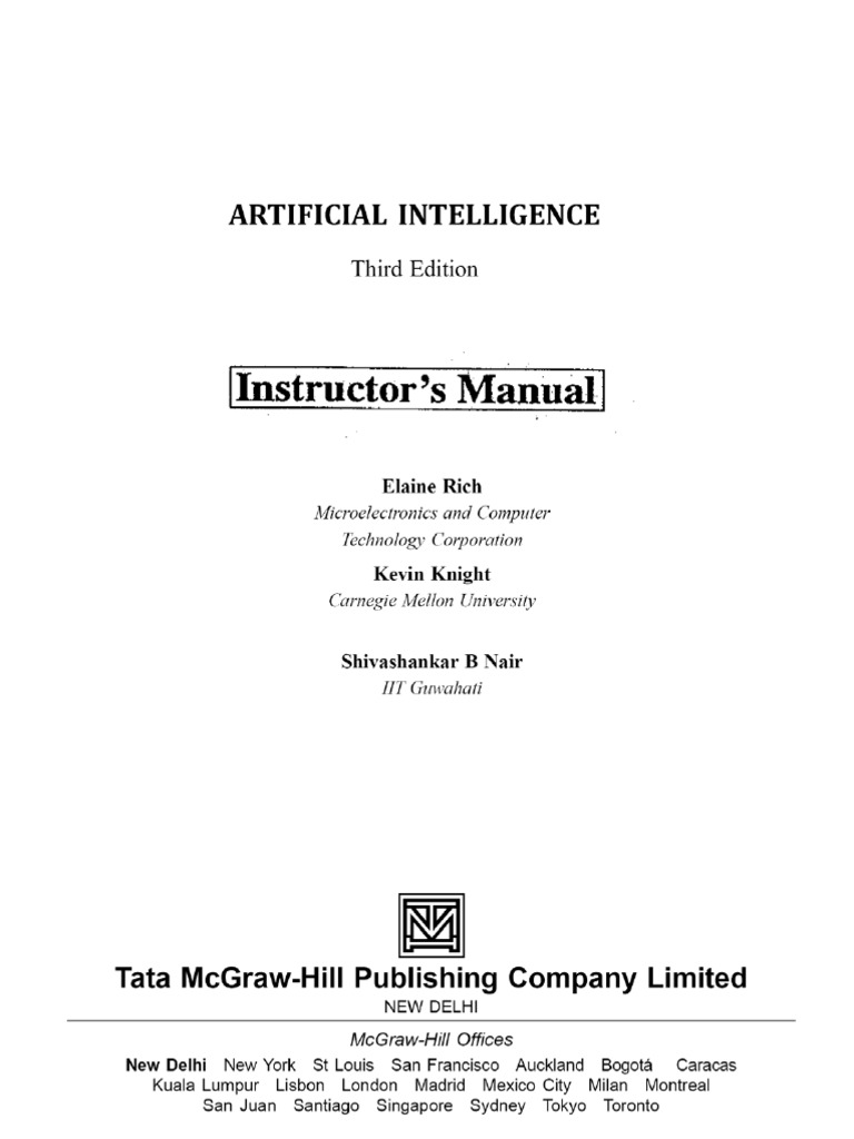 Artificial Intelligence Ebook Rich And Knight
