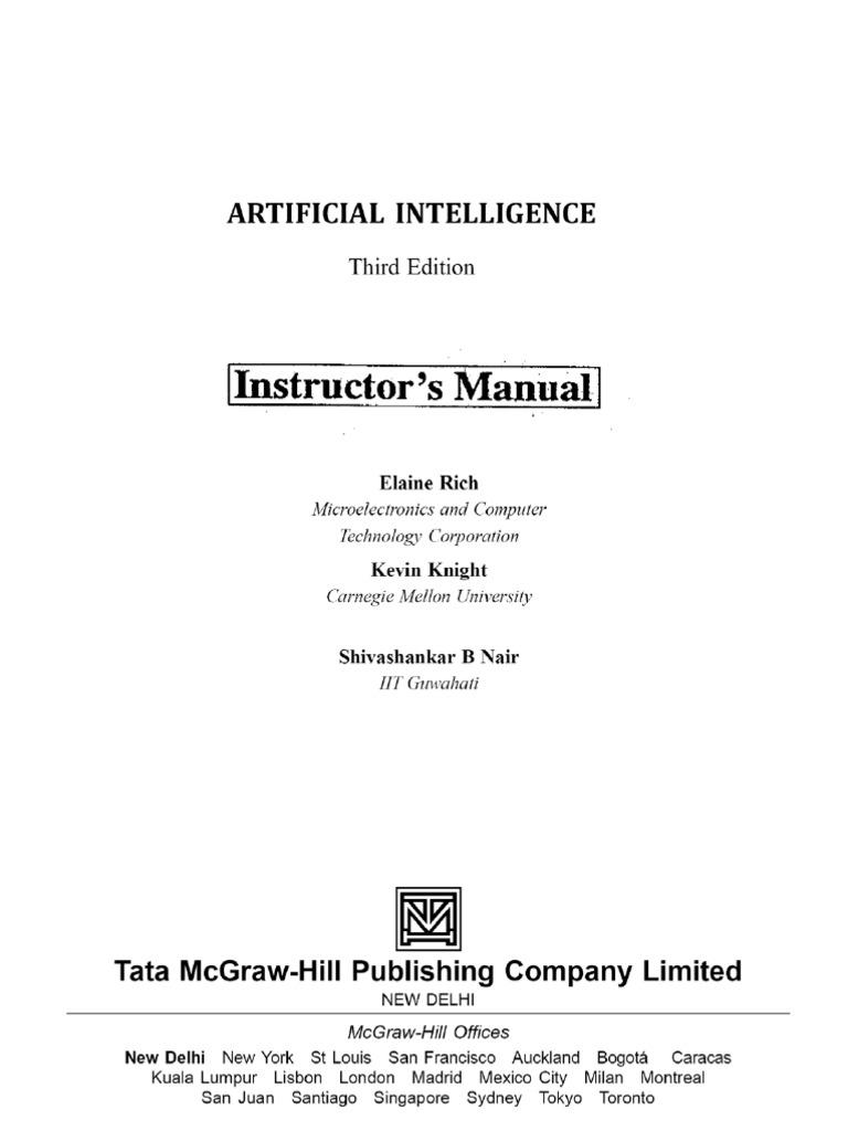Artificial Intelligence Ebook Rich & Knight
