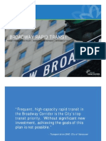 Urgent need for Broadway Subway - City of Vancouver Staff Presentation