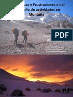 Expectativas y Frustraciones en el desarrollo de actividades en Montaña