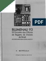 Matrícula - Gilberto Valente da Silva