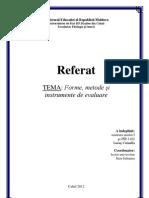 referat-forme,metode și instrumente de evaluare