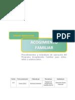 Familia de Acogida Protocolos y Flujorama