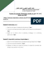 Examen de Fin de Passage Pratique TSGE 2007 v2