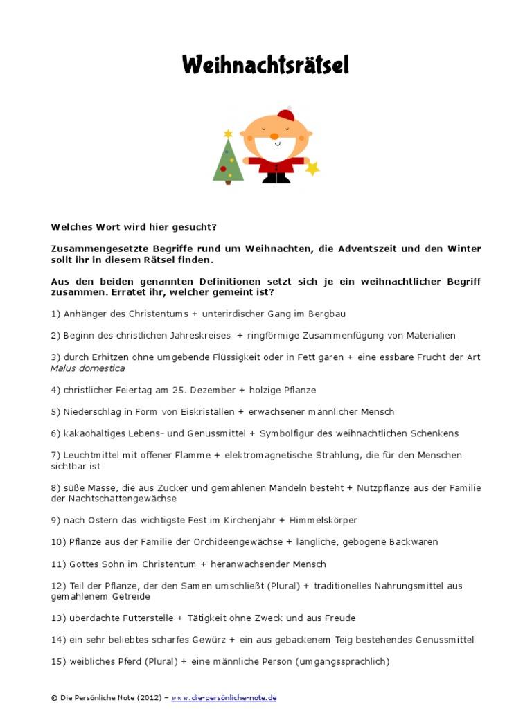 Weihnachtsrätsel: 24 unterhaltsame Quizfragen rund um das