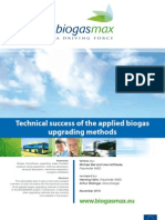 Technical Success of the Applied Biogas Upgrading Methods