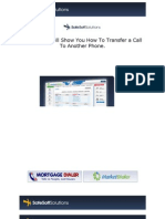 How To Transfer a LIVE CALL to a Third Party