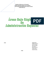 areas Bajo Regimen de administracion especial de Administracion Especial