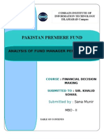 Pakistan Premier Fund - Fund Manager Performance Analysis