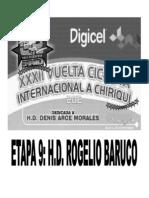 Clasificaciones Oficiales Etapa 9 Vuelta a Chiriqui