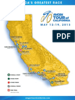 Amgen Tour of California Route Map 2013