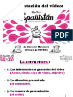 Presentación del vídeo Españistan (Aleix Saló), por Christin Melchert