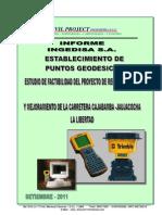 Informe Geodesico - Proyecto Rehabiltacion y Mejoramiento CAJABAMBA - JAUJACOCHA FINAL