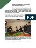 Instalación de la Comisión de Participación Ciudadana y Acceso a la Información Pública.