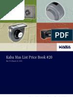 Kaba Mas 2012 Price List