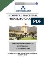 Evaluacion i Er Semestre 2012 Presupuesto Institucional