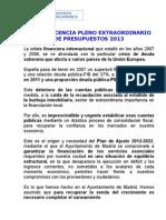 Comparecencia FMV Pleno Pptos 2013 SALAMANCA