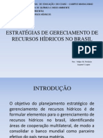 ESTRATÉGIAS DE GERECIAMENTO DE RECURSOS HÍDRICOS NO BRASIL