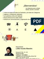 Catálogo de artistas de Reyes y Juglares Vallenatos