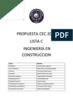 Propuestas para CEC Ingeniería en Construcción - Lista C