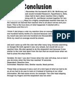 reaction times lab conclusion final pdf