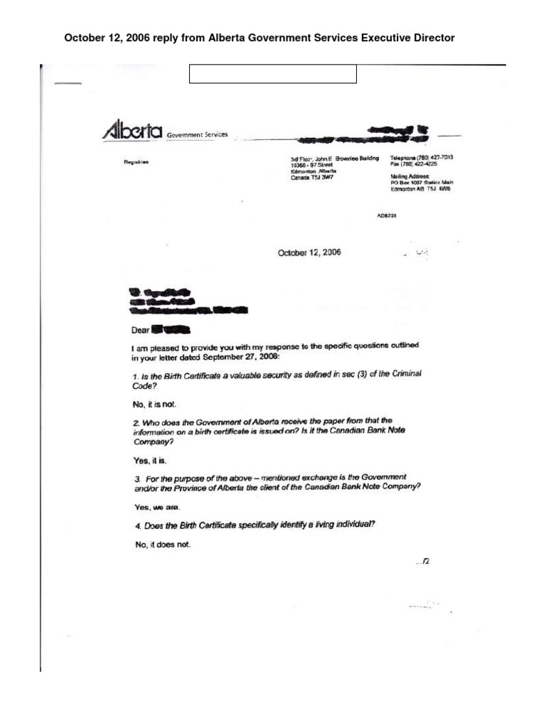 Alberta government services birth certificate letter aiddatafo Images