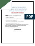 TEORÍA DE LA ORGANIZACIÓN FORMAL
