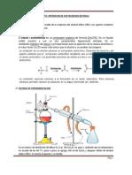 Obtención de acetaldehído con h2so4