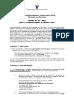 Edital PPGI UNIRIO Mestrado 2013