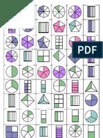 Cartones Bingo de Fracciones