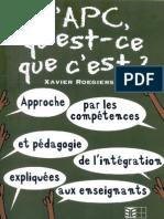 Xavier Roegiers - Aprendizaje Por Competencias