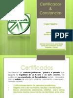 Certificados y Constancias Sen