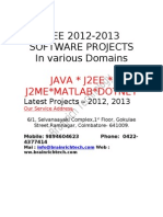 Best IEEE Projects 2012 Titles - IEEE Final Year Projects @ Brainrich Technology