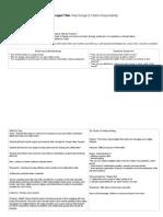 Web Design & Online Responsibility UbD Planner